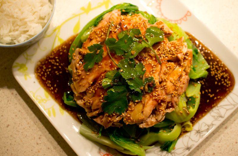 Salade de Kai Choi au Poulet 芥菜雞